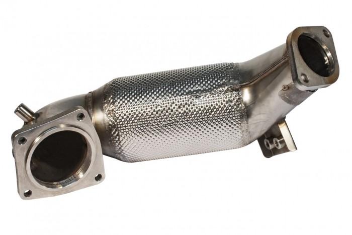Friedrich Motorsport 89>>>70mm Downpipe mit 300 Zellen HJS Sport-Kat.