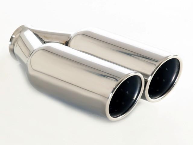 Friedrich Motorsport Endrohr 2x90mm rund gebördelt abgeschrägt