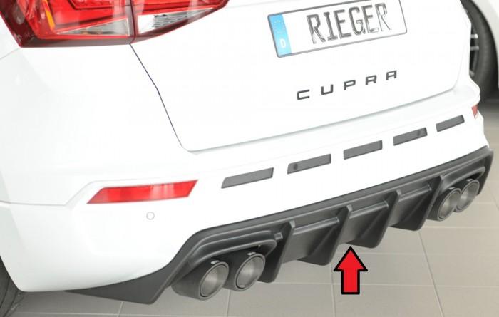 Rieger Heckeinsatz sw matt für Seat Cupra Ateca (5FP) ab 09/2018 (mit AHK)